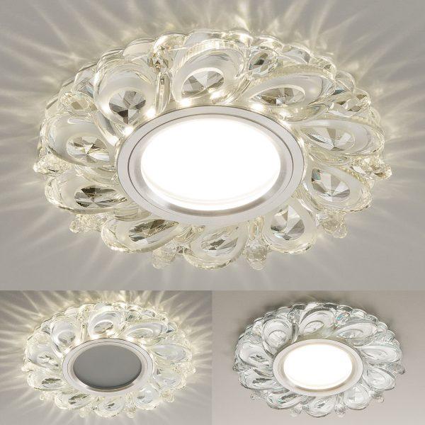 Встраиваемый потолочный светильник с LED подсветкой 2219 MR16 CL прозрачный 2