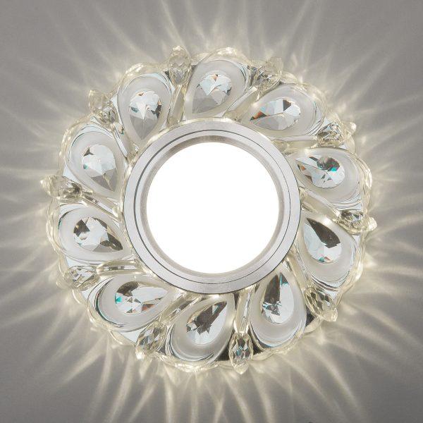 Встраиваемый потолочный светильник с LED подсветкой 2219 MR16 CL прозрачный 3