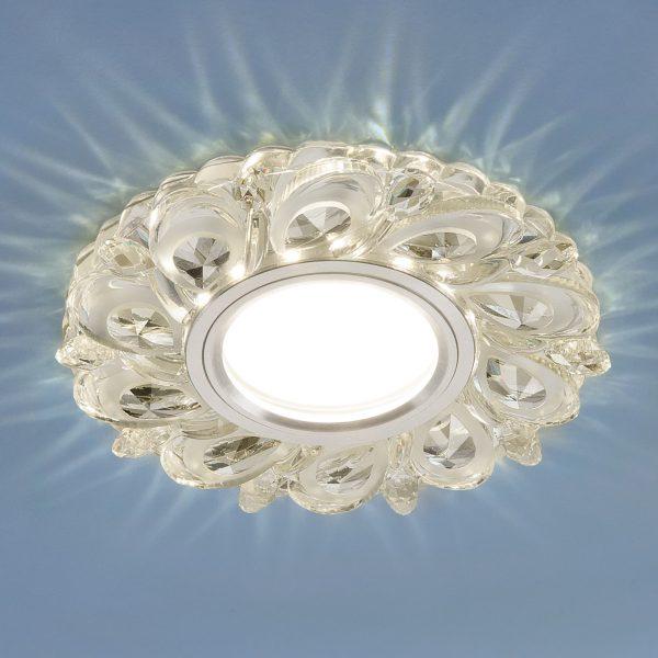 Встраиваемый потолочный светильник с LED подсветкой 2219 MR16 CL прозрачный 1