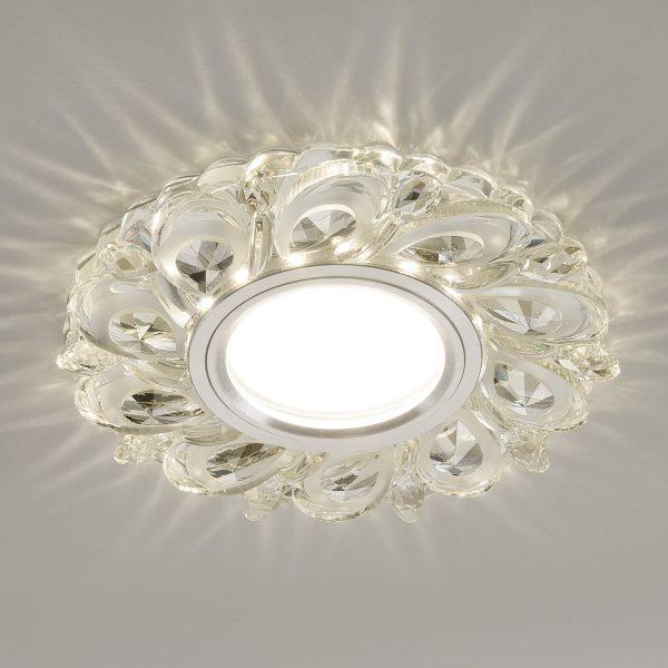 Встраиваемый потолочный светильник с LED подсветкой 2219 MR16 CL прозрачный 5