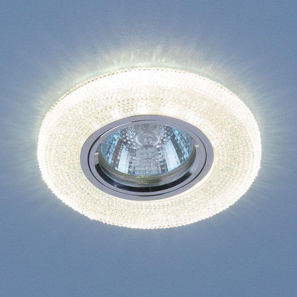 Встраиваемый потолочный светильник со светодиодной подсветкой 2130 MR16 CL прозрачный 1