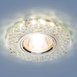 Встраиваемый потолочный светильник со светодиодной подсветкой 2140 MR16 SL зеркальный/серебро
