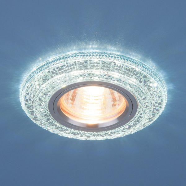 Встраиваемый потолочный светильник со светодиодной подсветкой 2160 MR16 CL прозрачный