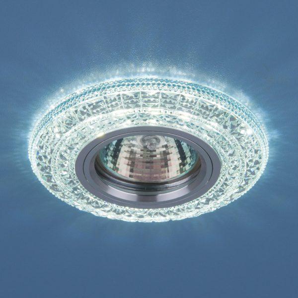 Встраиваемый потолочный светильник со светодиодной подсветкой 2160 MR16 CL прозрачный 1