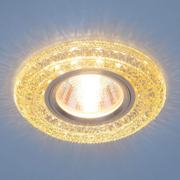 Встраиваемый потолочный светильник со светодиодной подсветкой 2160 MR16 GC тонированный