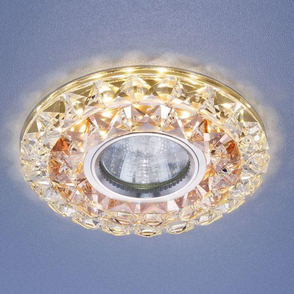 Встраиваемый потолочный светильник со светодиодной подсветкой 2170 MR16 GC CL тонированный прозрачный 1