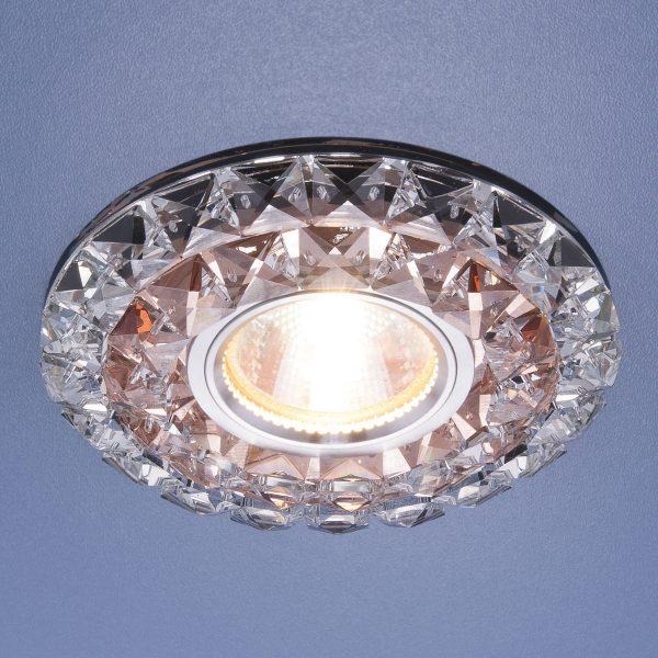 Встраиваемый потолочный светильник со светодиодной подсветкой 2170 MR16 GC CL тонированный прозрачный 2