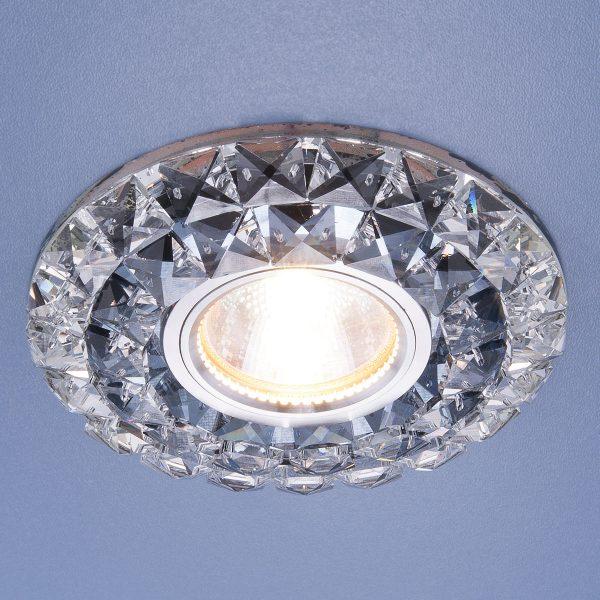 Встраиваемый потолочный светильник со светодиодной подсветкой 2170 MR16 SBK CL дымчатый прозрачный 2