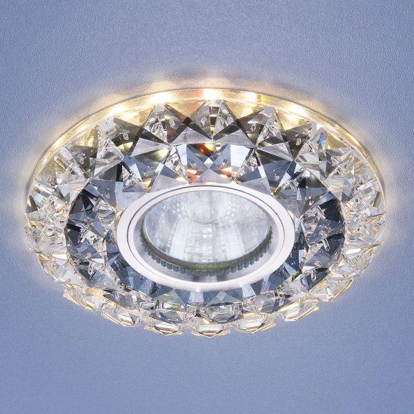 Встраиваемый потолочный светильник со светодиодной подсветкой 2170 MR16 SBK CL дымчатый прозрачный 1