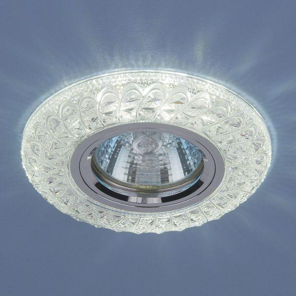 Встраиваемый потолочный светильник со светодиодной подсветкой 2180 MR16 CL прозрачный 2