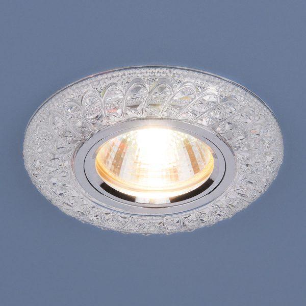 Встраиваемый потолочный светильник со светодиодной подсветкой 2180 MR16 CL прозрачный 1