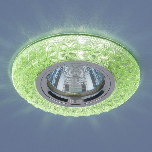 Встраиваемый потолочный светильник со светодиодной подсветкой 2180 MR16 GR зеленый 2