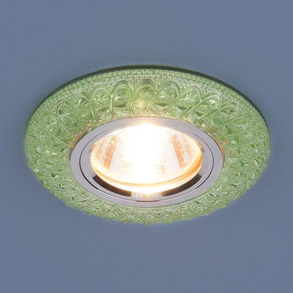 Встраиваемый потолочный светильник со светодиодной подсветкой 2180 MR16 GR зеленый 1