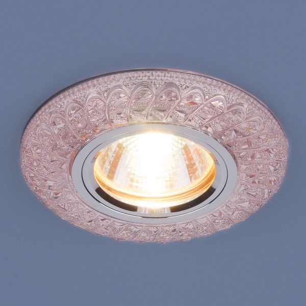 Встраиваемый потолочный светильник со светодиодной подсветкой 2180 MR16 PK розовый 1