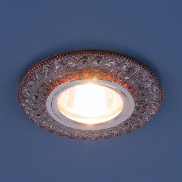 Встраиваемый потолочный светильник со светодиодной подсветкой 2180 MR16 SB дымчатый 2