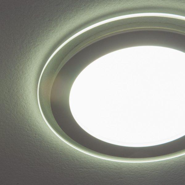Встраиваемый потолочный светодиодный светильник DLKR160 12W 4200K белый 1