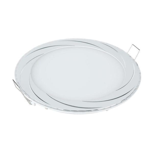 Встраиваемый потолочный светодиодный светильник DLR004 12W 4200K WH белый 1