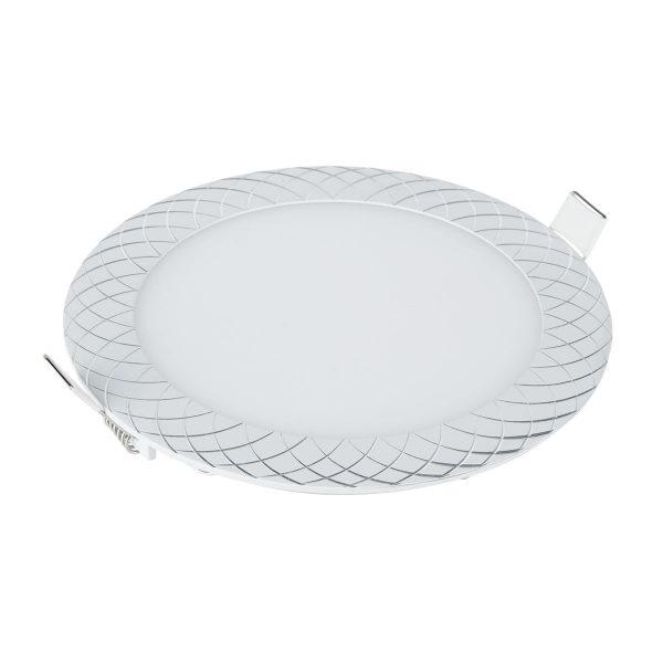 Встраиваемый потолочный светодиодный светильник DLR005 12W 4200K WH белый 2
