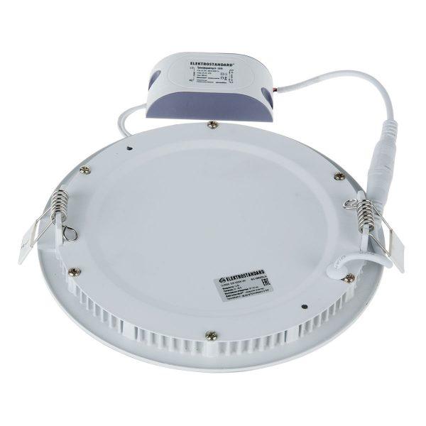 Встраиваемый потолочный светодиодный светильник DLR006 12W 4200K PS/G перламутровый серебро/золото 2