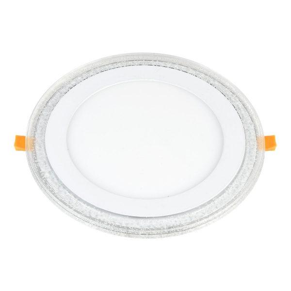 Встраиваемый потолочный светодиодный светильник DLR024 12+6W 4200K 1