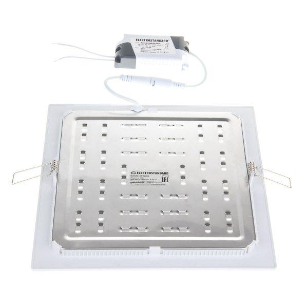 Встраиваемый потолочный светодиодный светильник DLS003 18W 4200K 1