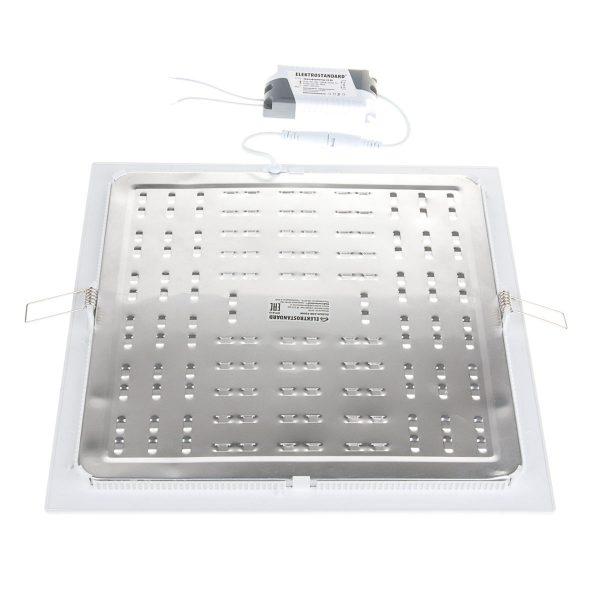 Встраиваемый потолочный светодиодный светильник DLS003 24W 4200K 1