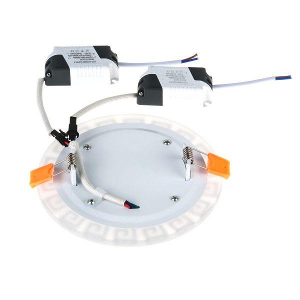 Встраиваемый потолочный светодиодный светильник DSS002 7+3W 4200K 4