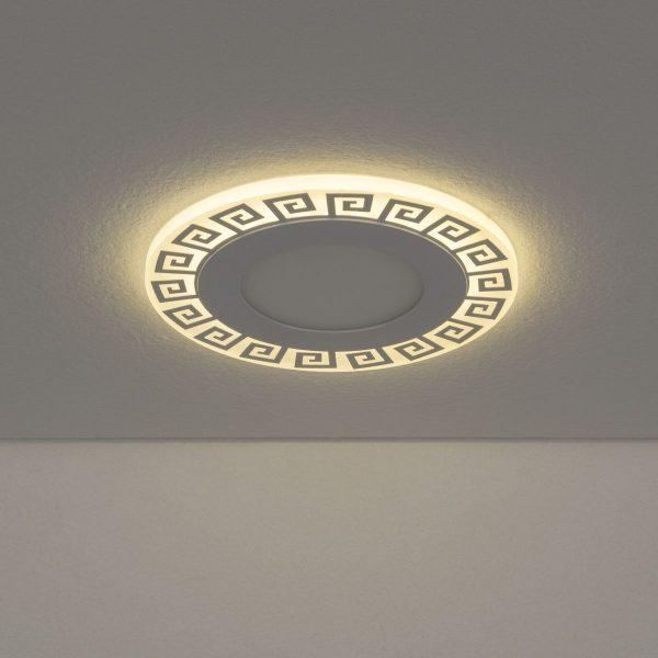 Встраиваемый потолочный светодиодный светильник DSS002 7+3W 4200K 3