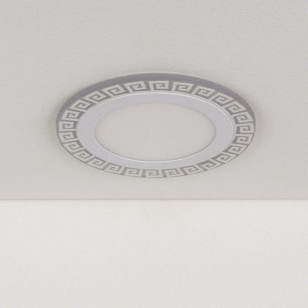 Встраиваемый потолочный светодиодный светильник DSS002 12+6W 4200K 1