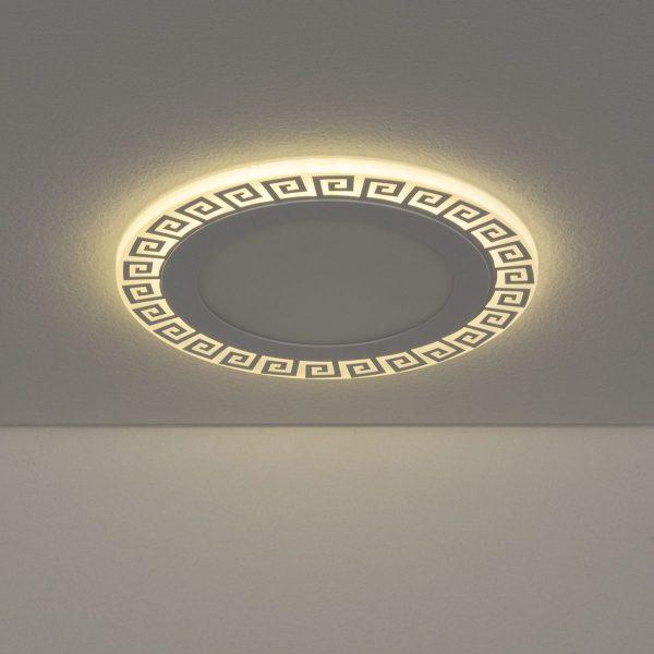 Встраиваемый потолочный светодиодный светильник DSS002 12+6W 4200K 3