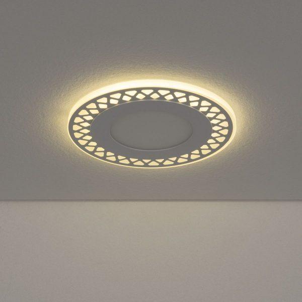 Встраиваемый потолочный светодиодный светильник DSS003 7+3W 4200K 3