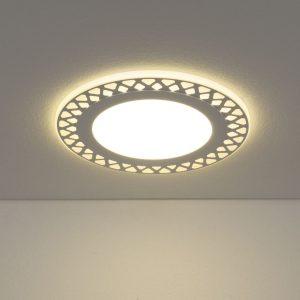 Встраиваемый потолочный светодиодный светильник DSS003 12+6W 4200K
