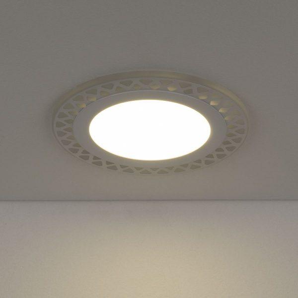 Встраиваемый потолочный светодиодный светильник DSS003 12+6W 4200K 3