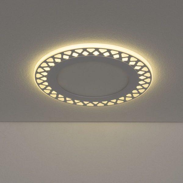 Встраиваемый потолочный светодиодный светильник DSS003 12+6W 4200K 4