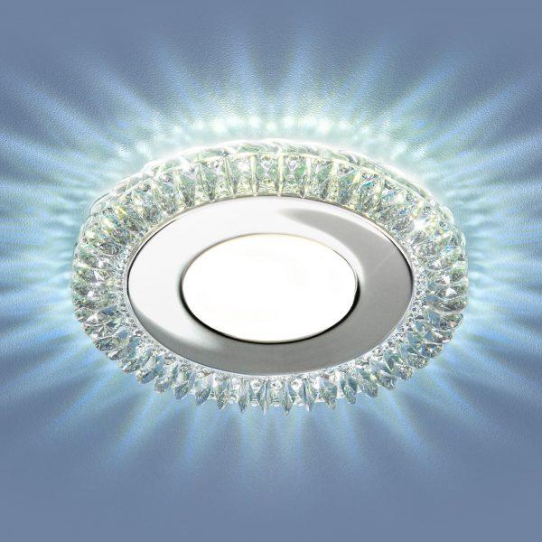Встраиваемый светодиодный потолочный светильник с LED подсветкой 9908 LED 8W CL прозрачный