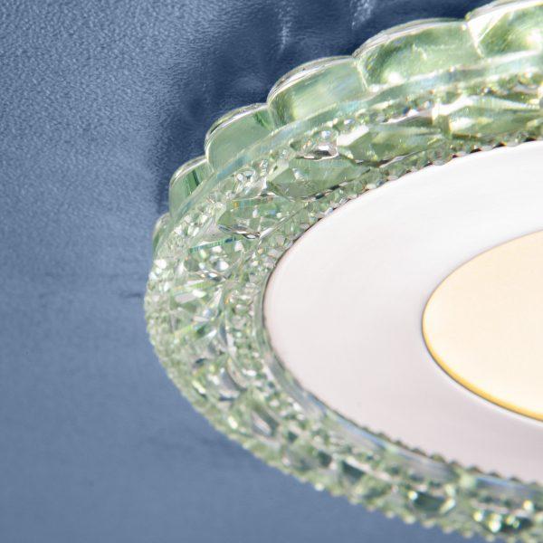 Встраиваемый светодиодный потолочный светильник с LED подсветкой 9909 LED 8W CL прозрачный 2