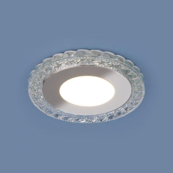 Встраиваемый светодиодный потолочный светильник с LED подсветкой 9909 LED 8W CL прозрачный 3