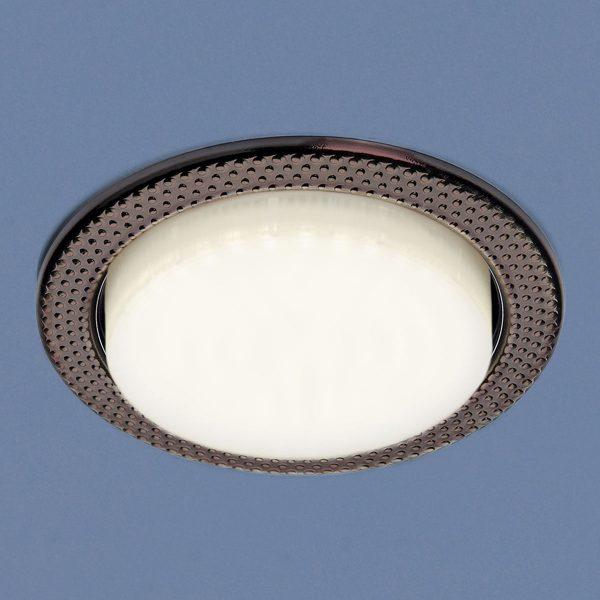 Встраиваемый точечный светильник 1066 GX53 SB бронза