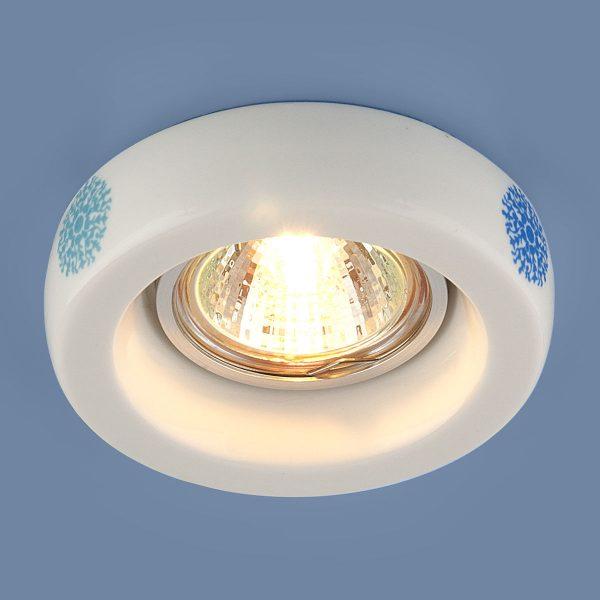 Встраиваемый точечный светильник с керамическим плафоном 9227 керамика