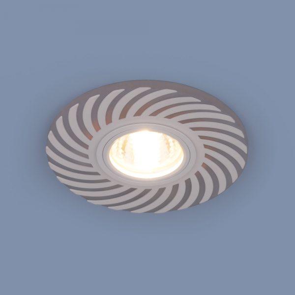 Встраиваемый точечный светильник с LED подсветкой 2215 MR16 WH белый 2