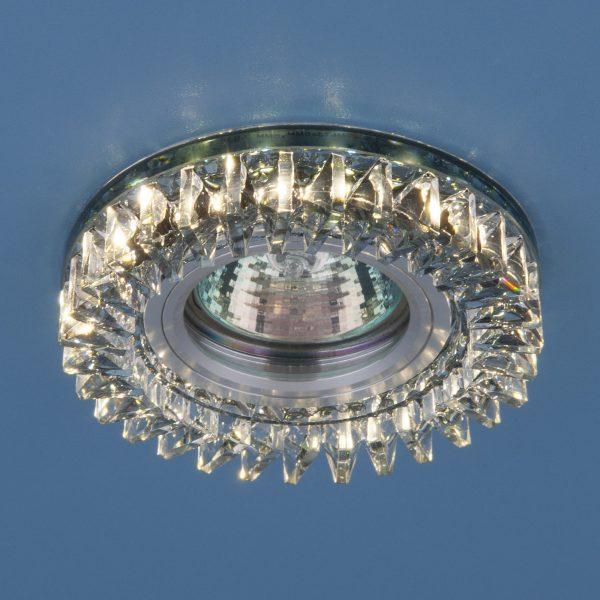 Встраиваемый точечный светильник с LED подсветкой 2216 MR16 SBK дымчатый 1