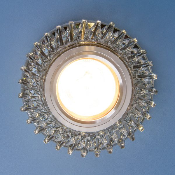 Встраиваемый точечный светильник с LED подсветкой 2216 MR16 SBK дымчатый 3