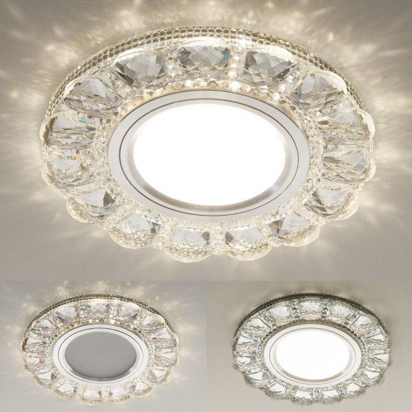 Встраиваемый точечный светильник с LED подсветкой 2218 MR16 CL прозрачный 2
