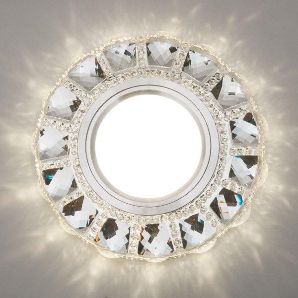 Встраиваемый точечный светильник с LED подсветкой 2218 MR16 CL прозрачный 3