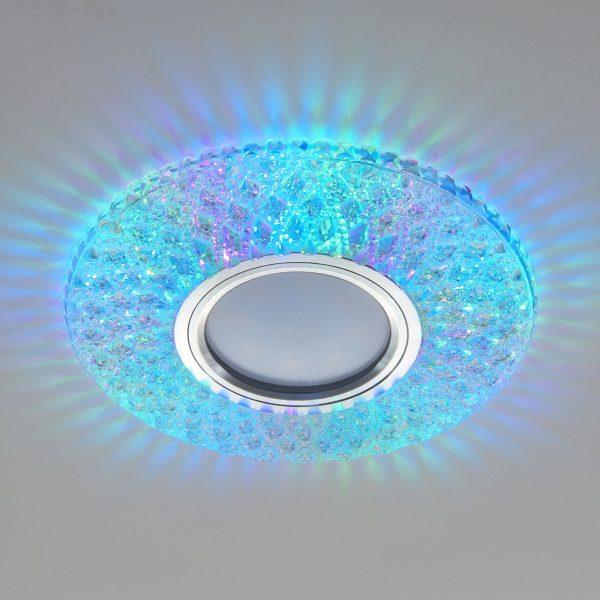 Встраиваемый точечный светильник с LED подсветкой 2220 MR16 CL прозрачный подсветка мульти 4