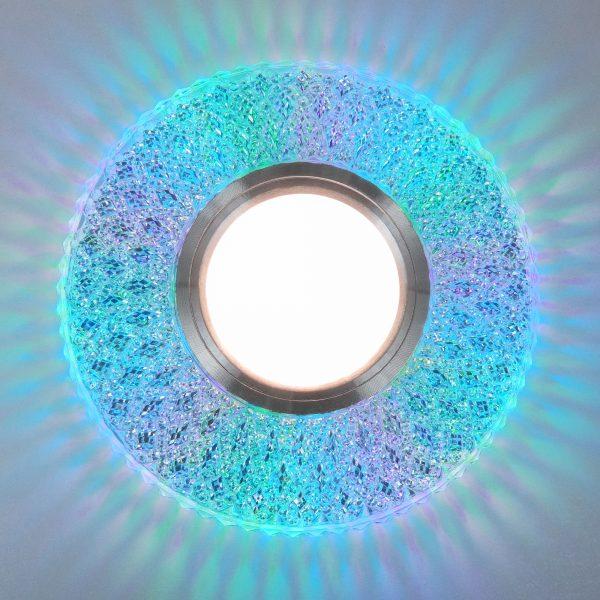 Встраиваемый точечный светильник с LED подсветкой 2220 MR16 CL прозрачный подсветка мульти 2