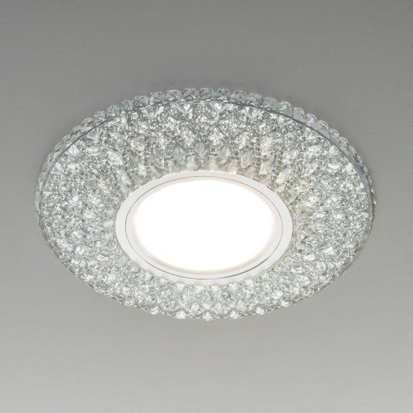 Встраиваемый точечный светильник с LED подсветкой 2220 MR16 CL прозрачный подсветка мульти 5