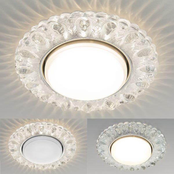 Встраиваемый точечный светильник с LED подсветкой 3026 GX53 CL прозрачный 5