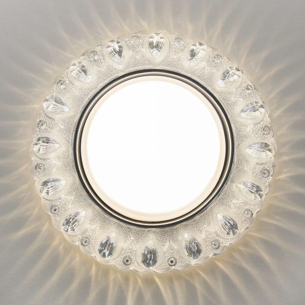 Встраиваемый точечный светильник с LED подсветкой 3026 GX53 CL прозрачный 3