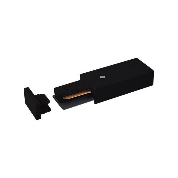 Ввод питания и заглушка торцевая для однофазного шинопровода черный TRP-1-1-BK